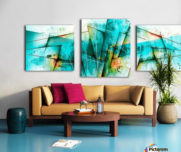 ABSTRACT ART BRITTO QB300 Canvas print