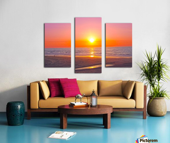 Serenity Found - Calming Atlantic Sunset in Portugal Canvas print