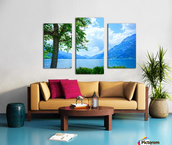 Snapshot in Time Walensee - Lake Walen Switzerland 3 of 3 Canvas print
