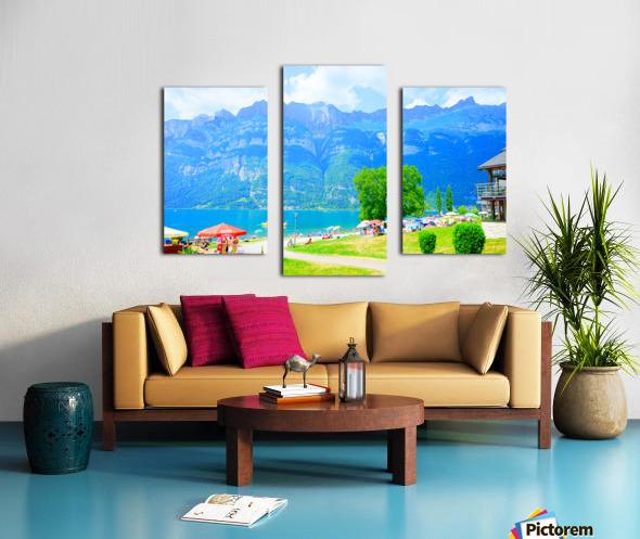 Snapshot in Time Walensee - Lake Walen Switzerland 1 of 3 Canvas print