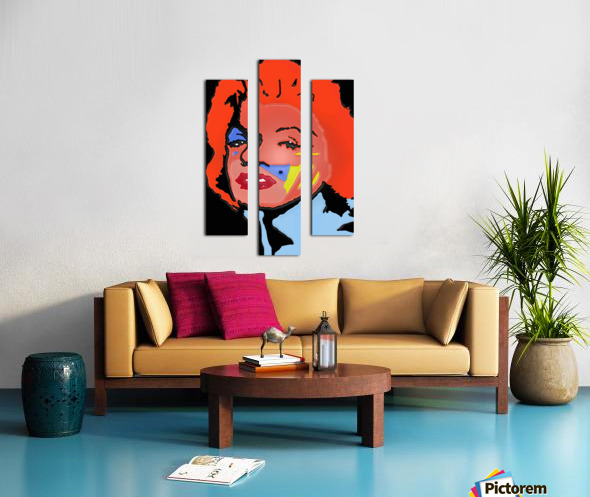 Marilyn in full color Canvas print