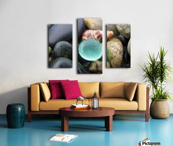 Sea Glass and Seashell Canvas print