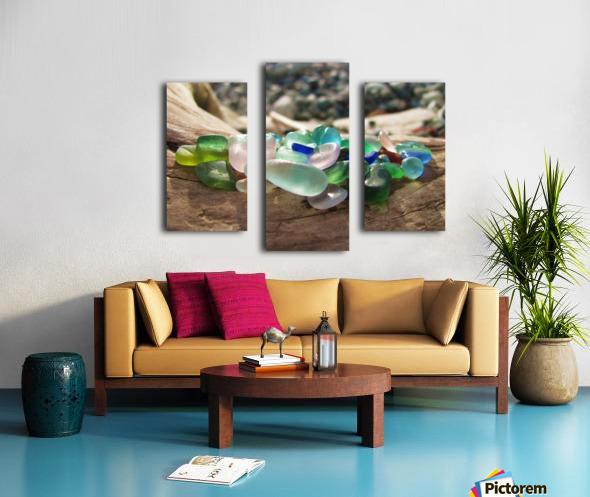 Sea Glass Colors Canvas print
