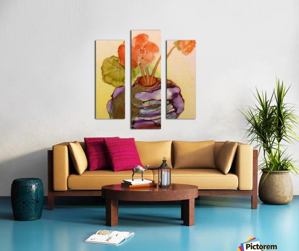 Orange Nasturiums Canvas print