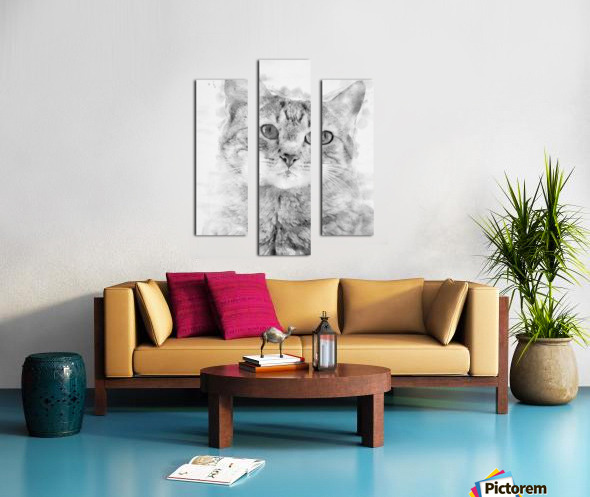 Kitten Noir Canvas print