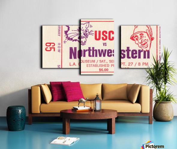 1969 USC Trojans vs. Northwestern Wildcats Canvas print