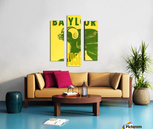 1956 Baylor Bears Vintage Football Art Remix Canvas print