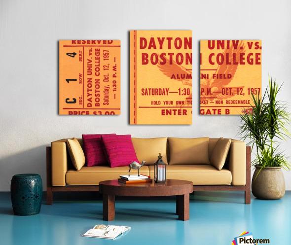 1957 Dayton Flyers vs. Boston College Eagles Canvas print