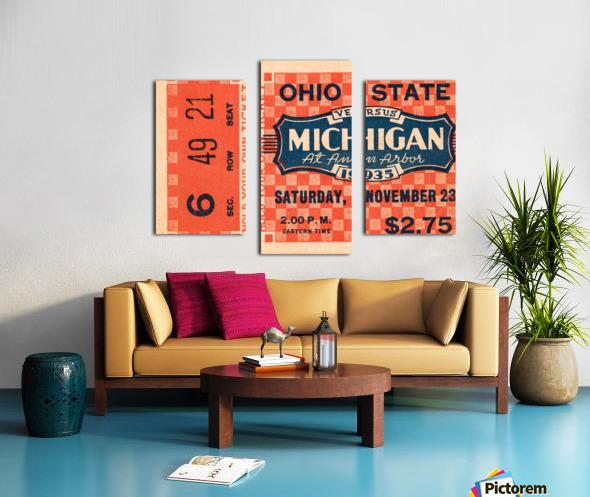 1935 Michigan Wolverines vs. Ohio State Buckeyes Ticket Art Canvas print