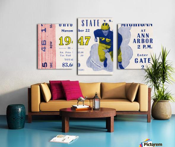 1947 Michigan Wolverines vs. Ohio State Buckeyes Canvas print