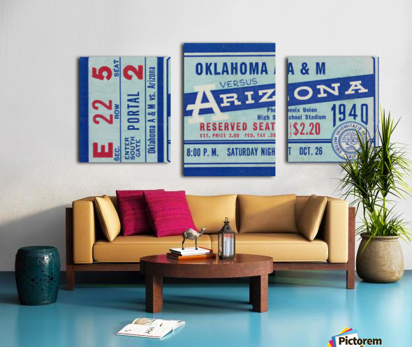1940 Arizona Wildcats vs. Oklahoma A&M Aggies Canvas print