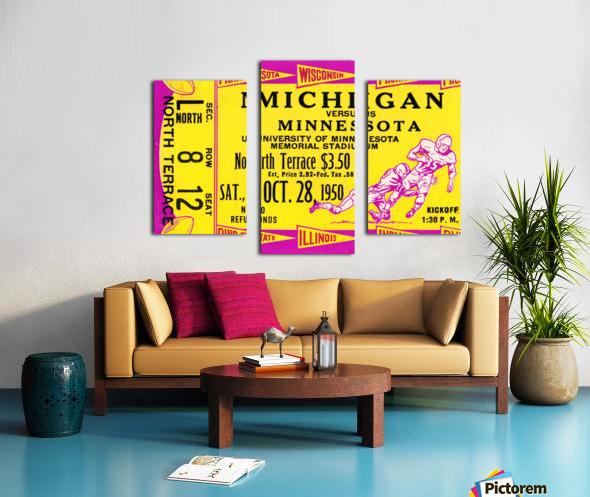1950 Minnesota Golden Gophers vs. Michigan Wolverines Canvas print