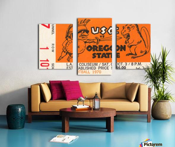 1970 USC Trojans vs. Oregon State Beavers Canvas print
