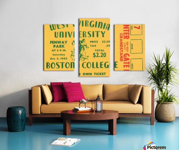 1942 Boston College Eagles vs. West Virginia Mountaineers Canvas print