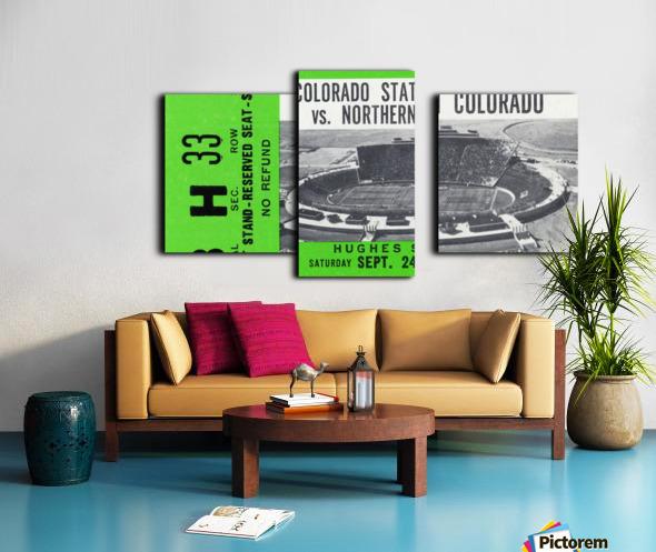 1977 Colorado State Rams vs. Northern Colorado Canvas print