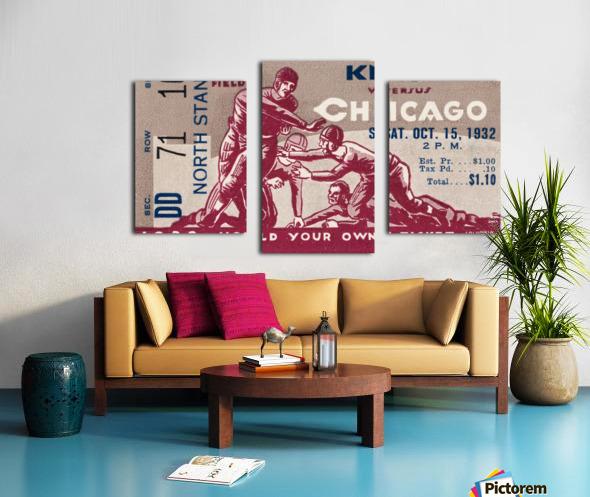 1932 Knox College vs. University of Chicago Canvas print