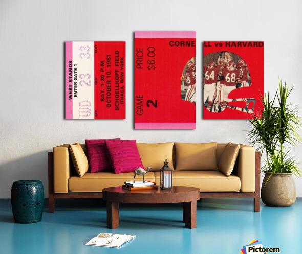 1981 Cornell Big Red vs. Harvard Crimson Canvas print