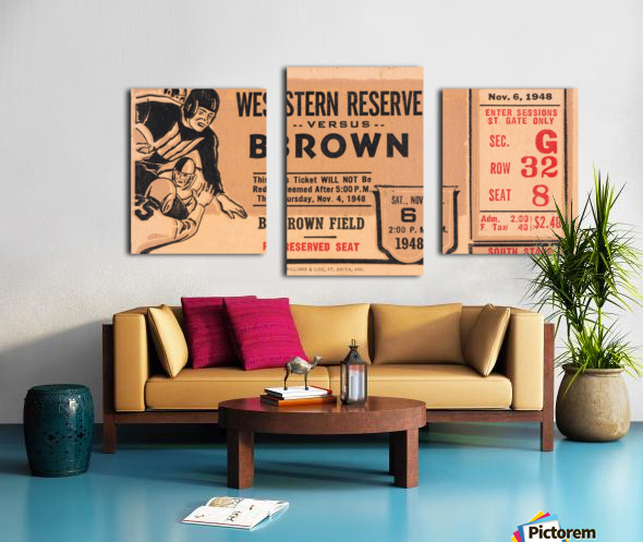 1948 Western Reserve Red Cats vs. Brown Bears Canvas print