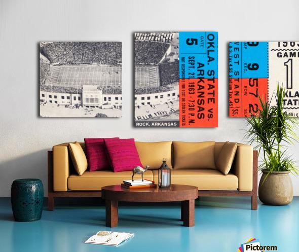 1963 Arkansas Razorbacks vs. Oklahoma State Cowboys Canvas print