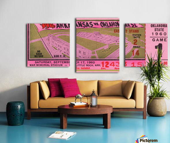 1960 Arkansas Razorbacks vs. Oklahoma State Cowboys Canvas print