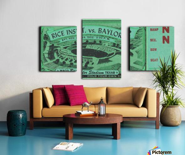 1952 Rice Owls vs. Baylor Bears Canvas print