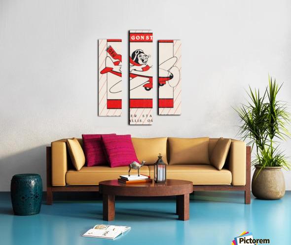 1985 Oregon State Beaver Football Ticket Stub Remix Art Canvas print