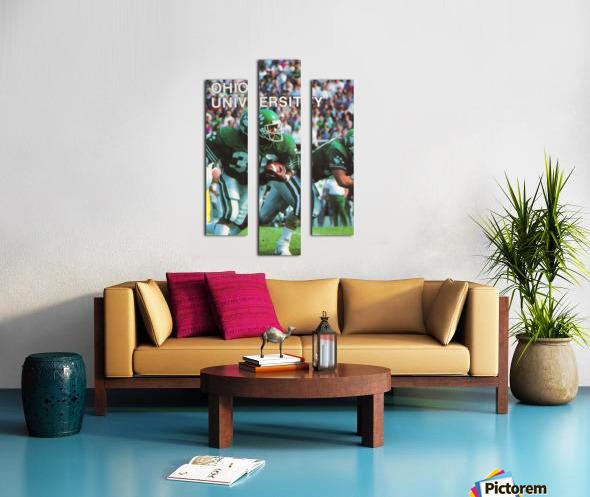 1987 Ohio Bobcats Retro Football Poster Canvas print