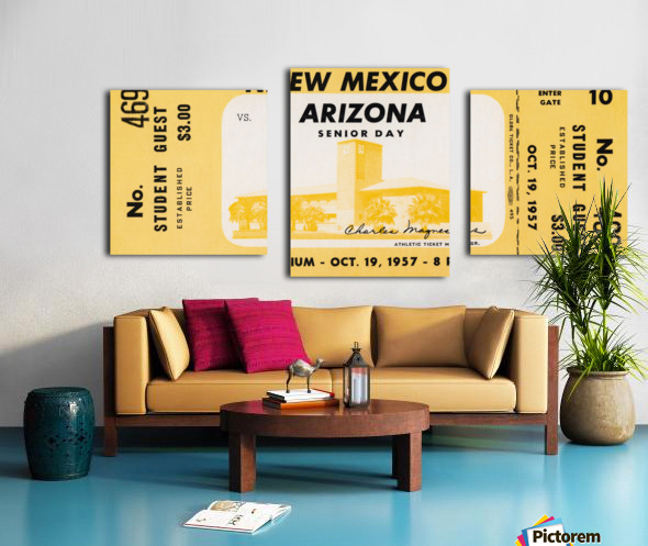 1957 Arizona Wildcats vs. New Mexico Lobos Canvas print
