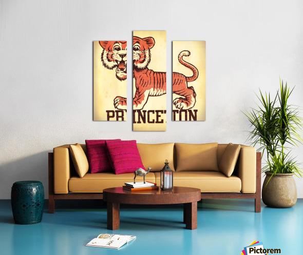 Vintage Fifties Princeton Tiger Remix Art Canvas print