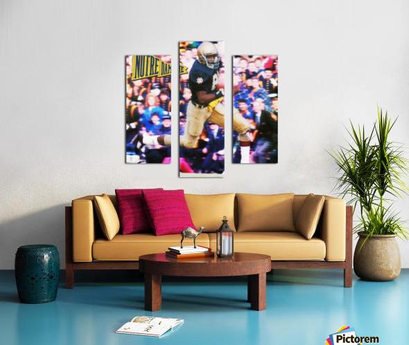 Retro Notre Dame Tim Brown Football Art Canvas print
