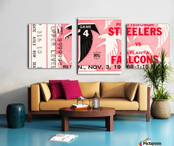 1968 Atlanta Falcons vs. Pittsburgh Steelers Ticket Art Canvas print