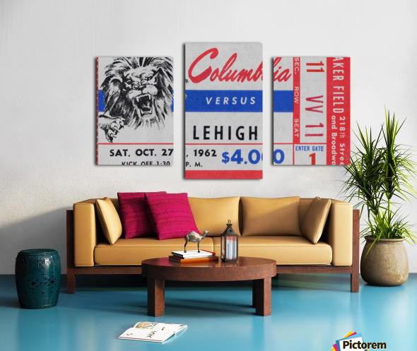 1962 Columbia Lions vs. Lehigh Engineers Canvas print