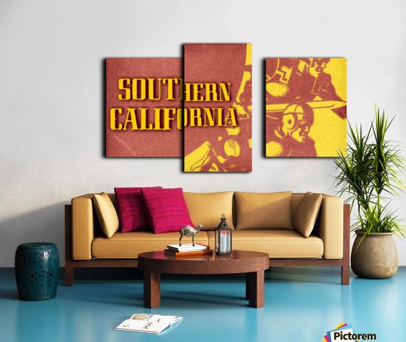 1936 Southern California Football Ticket Remix Canvas print