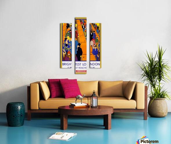 Brightest London travel poster Canvas print