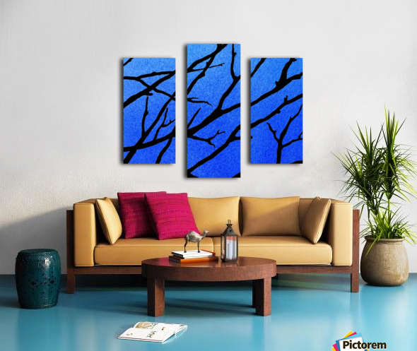 Ultramarine Forest Winter Blues II Canvas print