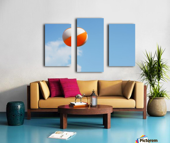 Beach ball on top of cloud Canvas print