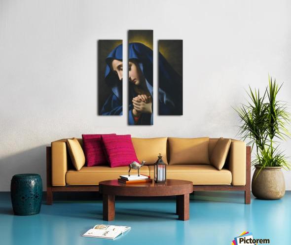 The Madonna at Prayer Canvas print