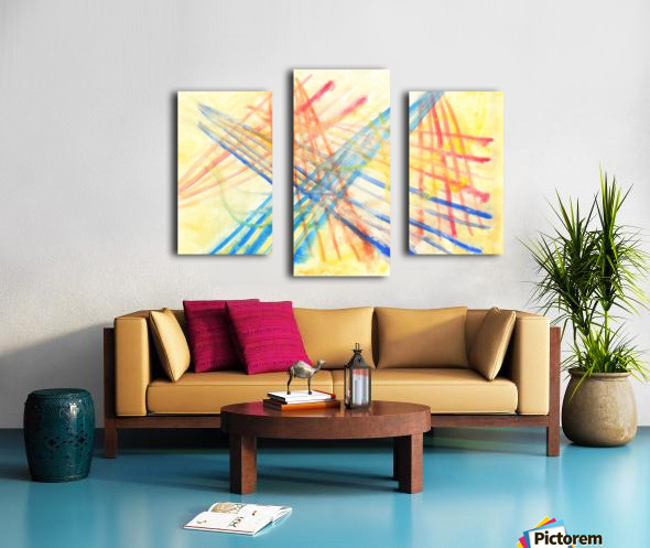Scratches 2 (Joan Miro tribute) Canvas print