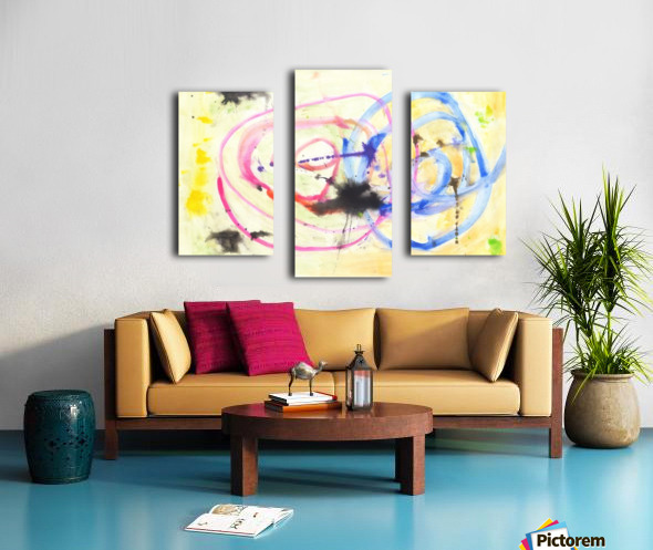 Relationship 1 (Joan Miro tribute) Canvas print