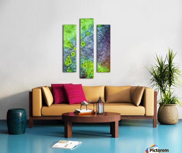 Green Paint Drops_120828_17039 HXSYV Canvas print