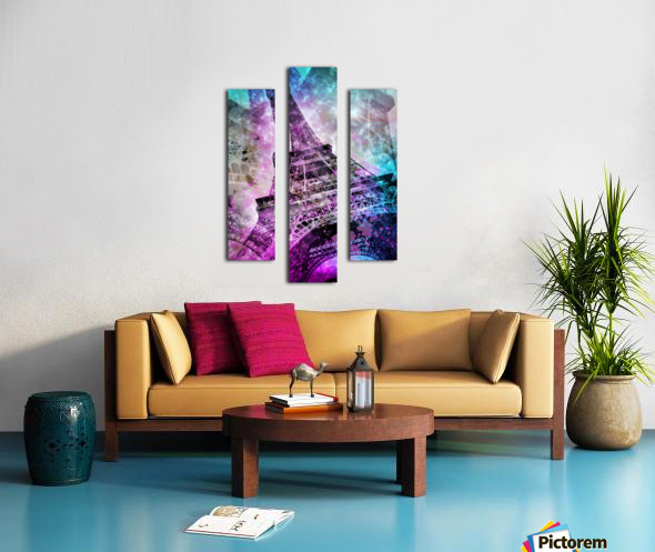 Pop Art Eiffel Tower Impression sur toile