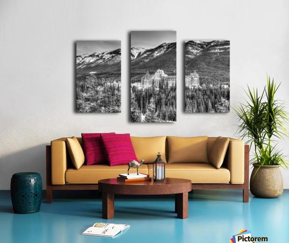 Banff_Hotel Canvas print