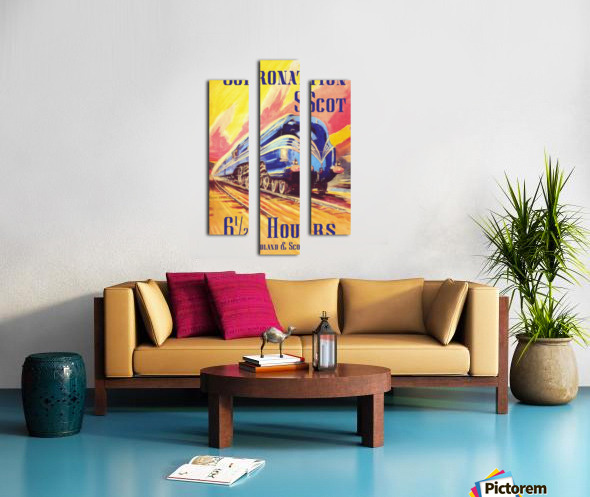 The Coronation Scot travel poster Canvas print
