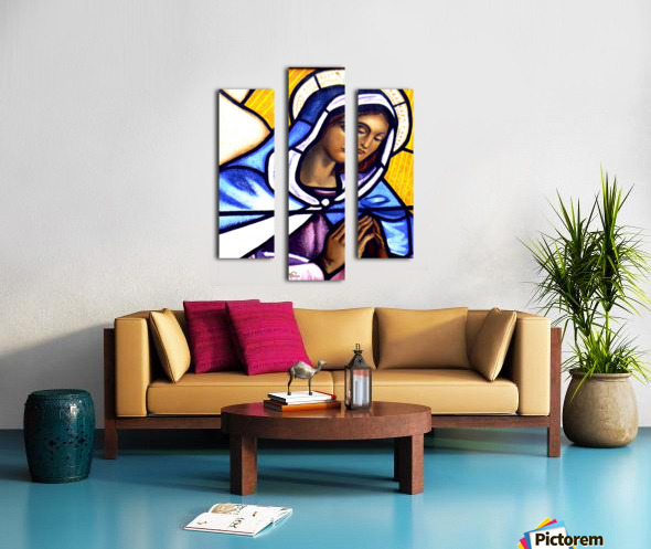 Mary in Glass Canvas print