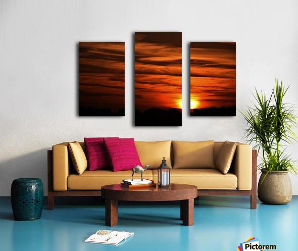 Sunrise in Cairo Canvas print