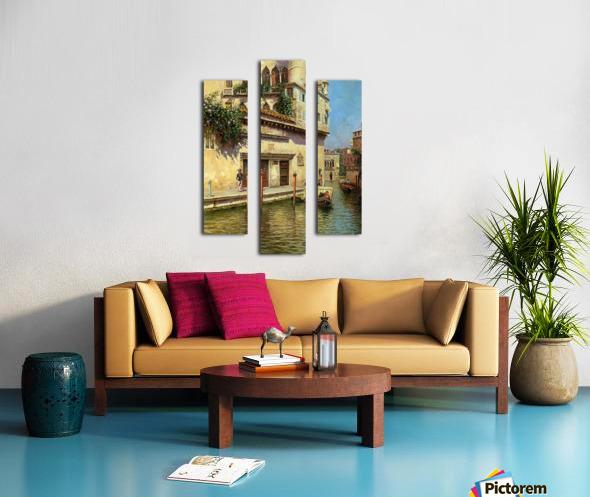A Venetian Backwater Canvas print