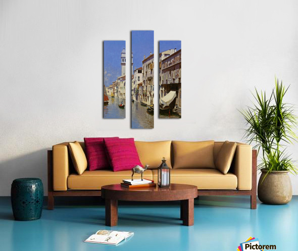 Along a Venetian canal Canvas print