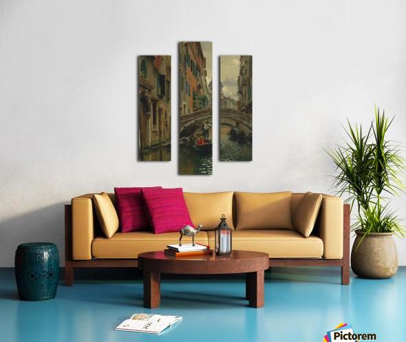 A quiet canal Impression sur toile