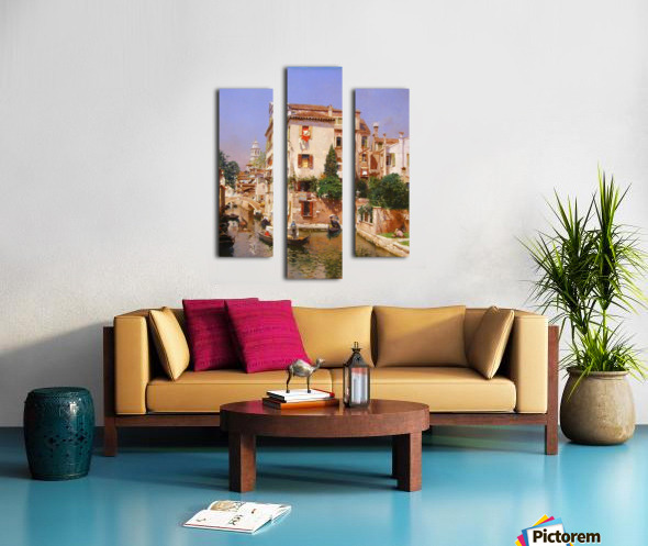 Gondoliers On A Venetian Canal Canvas print