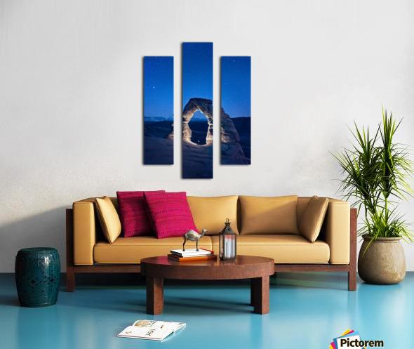 Delicate Arch Night Canvas print